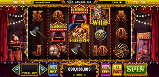 Midnight Carnival Slot Game with Scary Clown Themed - GamingSoft